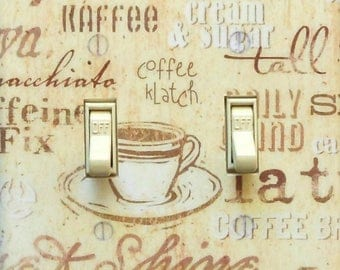 Coffee & Kitchen theme Switchplates w/ MATCHING SCREWS- Kitchen light switch cover coffee switch plate retro kitchen wall decor dining room