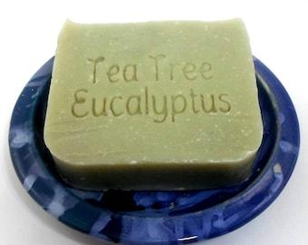 Tea Tree Eucalyptus Vegan Shampoo Bar - DISCOUNTED IRREGULAR BAR - works well with hard water - sls free shampoo bar -- plastic free