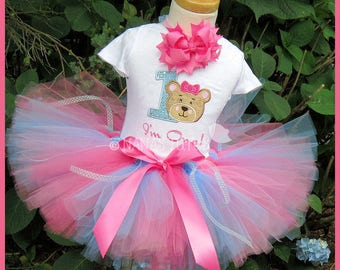 Birthday,Teddy Bear with Number, Personalized, Theme Party, Party Outfit in Sizes to 3yrs