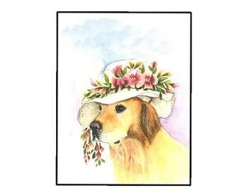Beautiful Golden Retriever Blank Greeting Card