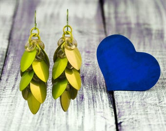 Chartreuse Ever After Earrings - Wedding & Bridal Jewelry