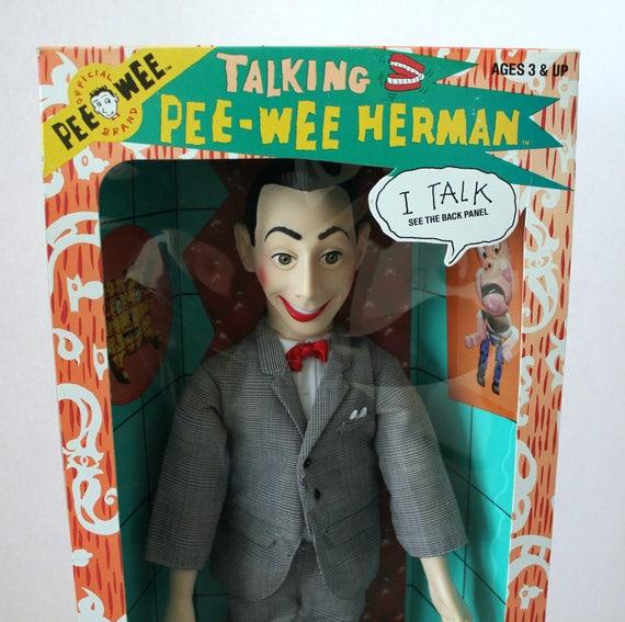 Vintage Pee Wee Herman Talking Doll, 1987 NIB New in Box, Matchbox Toy