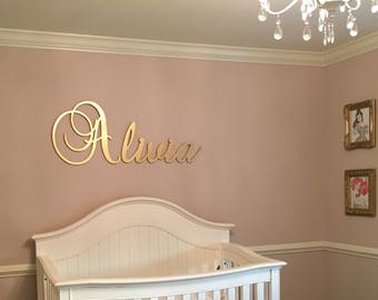 Gold Nursery Name Sign   Baby U0026 Kids Nursery Decor   Wall Letters For Boy  And