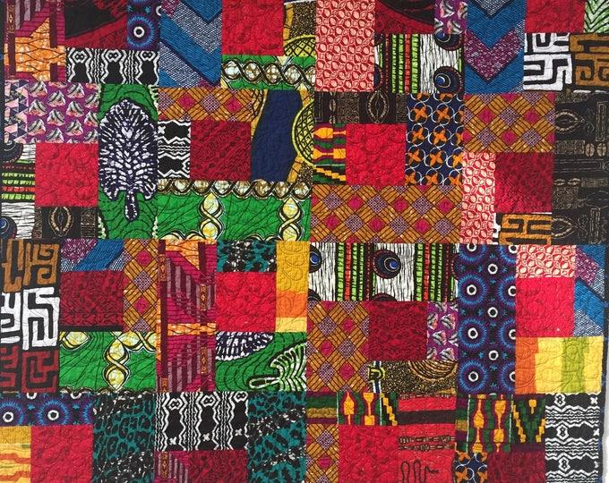 African Glow 42x42 inch African art quilt