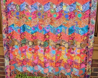 Tawny Tiles Quilt-Made with Kaffe Fassett Fabrics