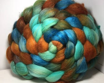 Merino/Baby Camel/Tussah 60/20/20 Roving Combed Top - 5oz - Copper Sea 2