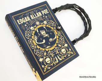 Edgar Allan Poe Book Purse - Poe Book Clutch - Horror Gift - Poe Collector Gift - Macabre Fashion - Purse made from book - Reader Gift
