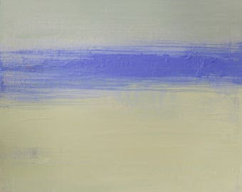 Abstract Landscape Painting, Modern Coastal Painting, Original 10x10 Painting - West Elm artist, Coastal Decor, Wall Decor, Beach Decor