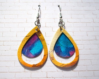 Watercolor Paper Earrings