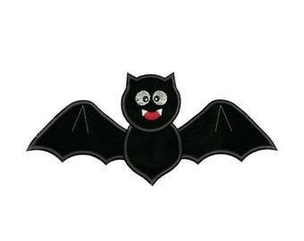 SALE 65% OFF Applique Halloween Bat Embroidery Designs 4X4 and 5X7 Included - Instant Download Sale