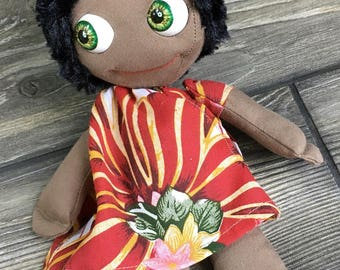 India Tindle kidz cute international doll movable zipper tummy feed sack baby by Karen Knapp of Tindle Bears