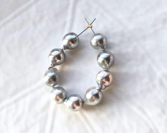 Baroque Silver Blue Akoya Pearls - Parcel of 9 Pearls