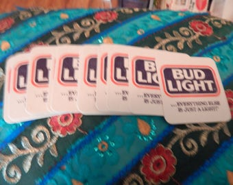 Vintage Bud Coasters. Great fun for man cave beer party pool party