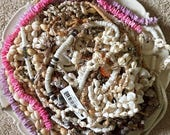 4th of July Sale HUGE SHELL Lot 1 pound 12 oz Pooka LOT Shell Necklaces Bracelets Beads Crafting Jewelry making Crafting Assemblage Shell Co
