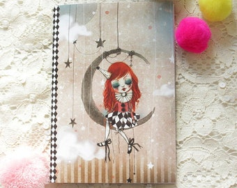 "Illustrated notebook - notebook - ""In My Arms - Doll"""