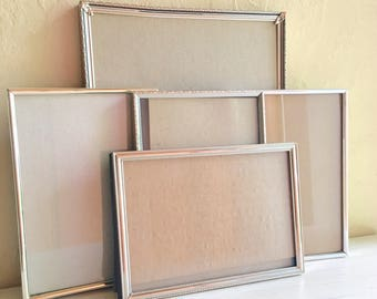 Vintage Silver Metal Picture Frames 8x10 and 5x7