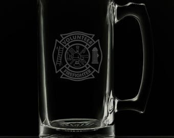 Volunteer Fire Department 25 Ounce Personalized Beer Mug