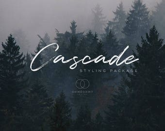 Cascade - Etsy Shop Styling Package with Logo, Cover, Icon, Placeholders - Full Storefront Branding Graphics Set - Rustic Northwest Woodland