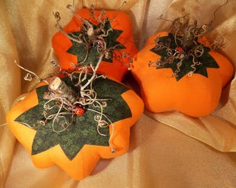 Fabric Pumpkin~Extra Large Handmade Flannel Pumpkin~Decorative Harvest Pumpkin~Decorative Fabric Pumpkin~Extra Large Fabric Pumpkin