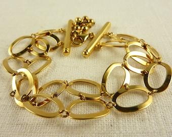 Vintage Gold Plated Sterling Looped Bracelet
