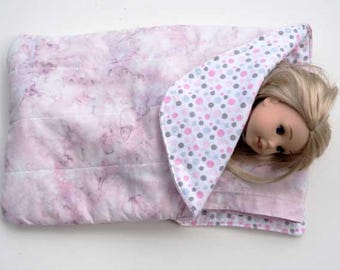 14.50 inch Doll Sleeping Bag for dolls such as Wellie Wishers