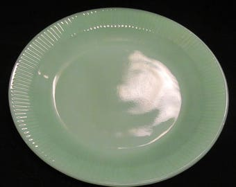 Jadite Fireking Dinner Plate,  Vintage 1950's