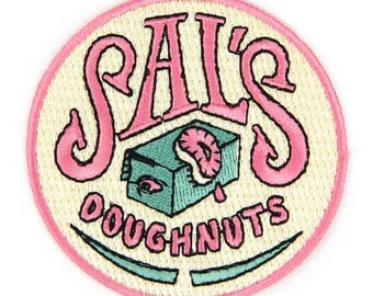 Sal's Doughnuts Iron On Patch