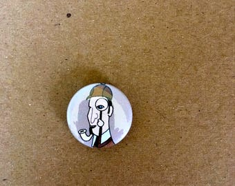 Sherlock Holmes Pinback Button One Inch Size