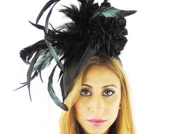 Black Fascinator Kentucky Derby or Wedding Hat **SAMPLE SALE