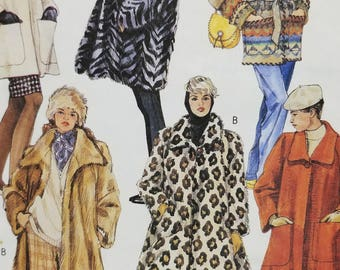 Misses Lined Coat Pattern Unlined Coat Mccalls 6717 Misses Size Exlarge 22 to 24 Misses Head Band Pattern