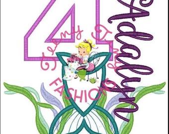 Sample Sale ~ Mermaid Birthday Shirt ~ Mermaid Party ~ Girls Mermaid Shirt  ~ Under the Sea Birthday ~ Mermaid ~ Swim Party ~ Little Mermaid