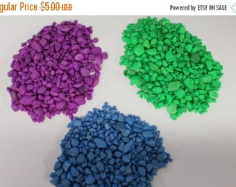 Save25% Miniature Pebbles-1 pound bag-Terrariums-Vivariums-Weddings-Craft Projects and More-Purple-Green-Blue