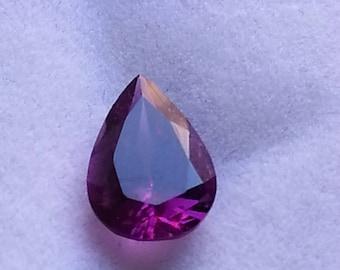 Natural Loose Rhodolite Garnet, Cut Gemstone Rhodolite Garnet, Faceted Garnet Gemstone Pear 1.40 Cts