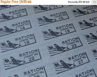 ONSALE 44 1940s War Ration Tickets Planes