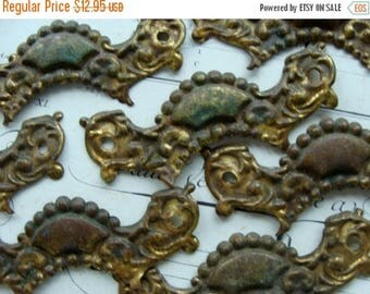 ONSALE One Antique Salvaged Beautiful French Ornate Antique Hardware for Mixed Media or Jewelry