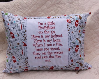 I'm a Little Firefighter Childrens Pillow