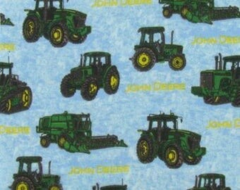John Deere Tractors FLANNEL Fabric by the yard