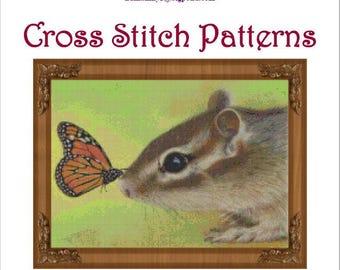 Butterfly Kiss Cross Stitch Pattern