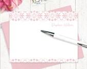personalisierte Hinweis Karte Briefpapierset - Liebling DAPHNE - Set von 12 flache Karten - stationäre Set - wählen Sie Tinte und Umschlag Farbe - Geschenk-set