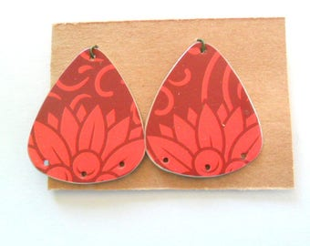 Reclaimed Upcycled Tea Tin Earring Findings Pair