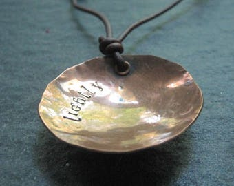 lightly - warm copper small offering bowl necklace