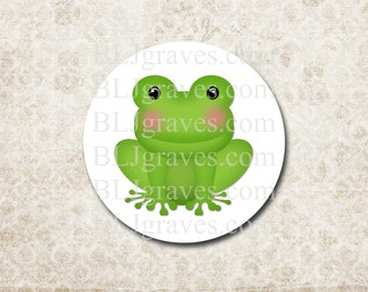 Stickers Frog Baby Shower Party Favor Treat Bag sticker Envelope Seals SPB010