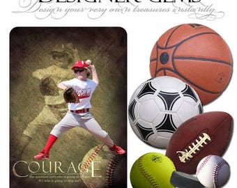 50% Off - Photoshop Design | Sports Photo Overlays | SPORTS BALLS | (6) Digital .PNG Files for Sports Photography & Quick Pages.
