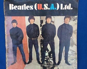 Vintage The Beatles (U.S.A) Ltd. 1966 Fan Club Book, Tour Program 60's with Paul, John, Ringo and George Original Authentic