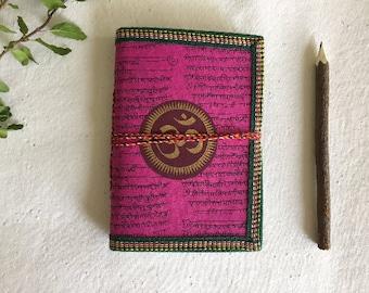 Blank Journal Diary, Art Journal, Junk Journal, OM Chakra, Pocket Diary, Writing Notebook, Journal Gift, Eco Friendly Journal, Junk Journal