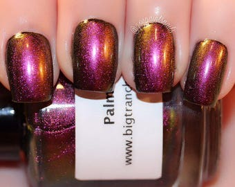 Multichrome Shade Shifter Multi-Color Shifting Polish: Custom-Blended Glitter Nail Polish / Indie Lacquer - Palm Breeze