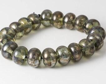 Antique Effect Lampwork Beads