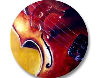 "Cello Button Badge 1.25"" Music String Instrument"