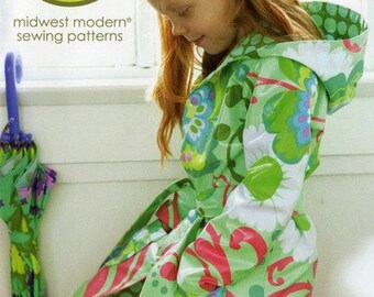 Sale!  little splashes hooded raincoat  runabout jacket pattern (AB044LS) by Amy Butler