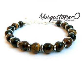 Men bracelet, bracelet guy, Tiger eye beads, gift idea, tiger eye stone bracelet for him, minimal,